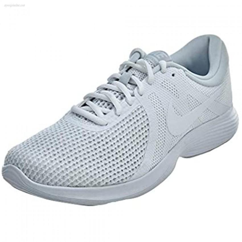 Nike Men's Revolution 4 Running Shoe White/White-Pure Platinum 10 Regular US