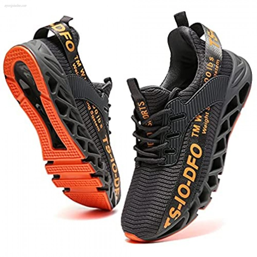 TSIODFO Mens Sport Running Sneakers Breathable Trail Athletic Shoes