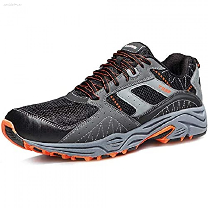 TSLA Men's Trail Running Shoe Lightweight Breathable Outdoor Walking Sneakers Athletic Gym Training Hiking Shoes