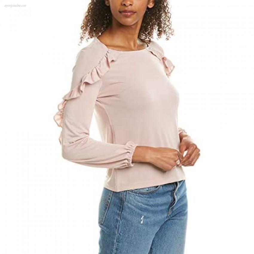 BB DAKOTA Women's Sweet Thang Modal Jersey Ruffle Top