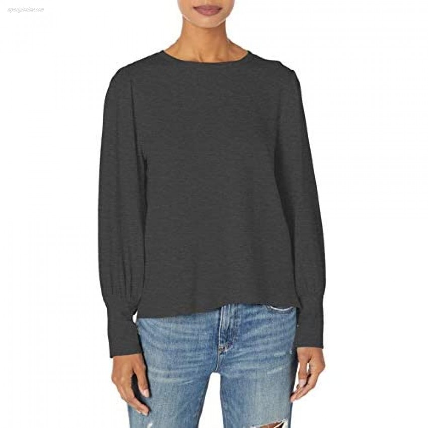 cupcakes and cashmere Women's Liva Plush Fleece Pullover with Puff Sleeve