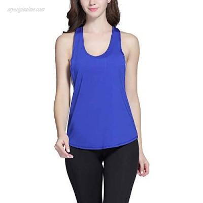 Exerin Women's Racerback Tank Top Basic Workout Clothes Activewear Yoga Shirt Sport Vest