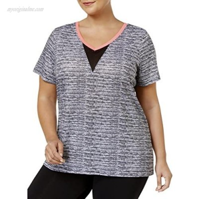 Material Girl Women's Active Plus Size Open-Back V-Neck Top