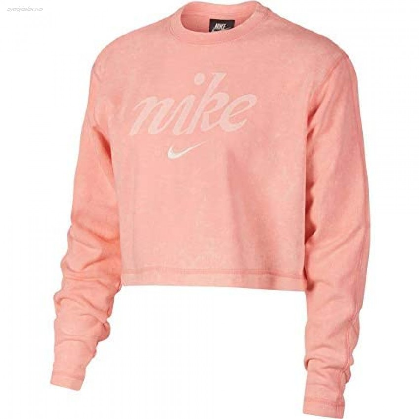 Nike NSW Crew Crop Wash Bleached Coral/Summit White MD