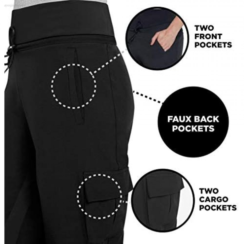 Lupo Women's Running Pants Athletic Joggers Sweat Pants Lightweight Hiking Cargo Sports Track Pants