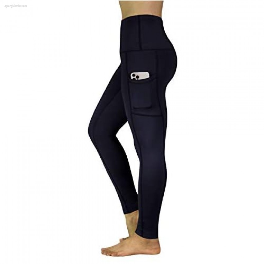 REETOYO Women's High Waisted Yoga Pants with Pockets Full Length Workout Running Tights Yoga Leggings