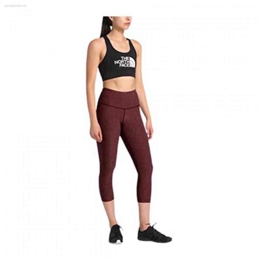 The North Face Women's Motivation High Rise Crop Deep Garnet Red Heather S Regular