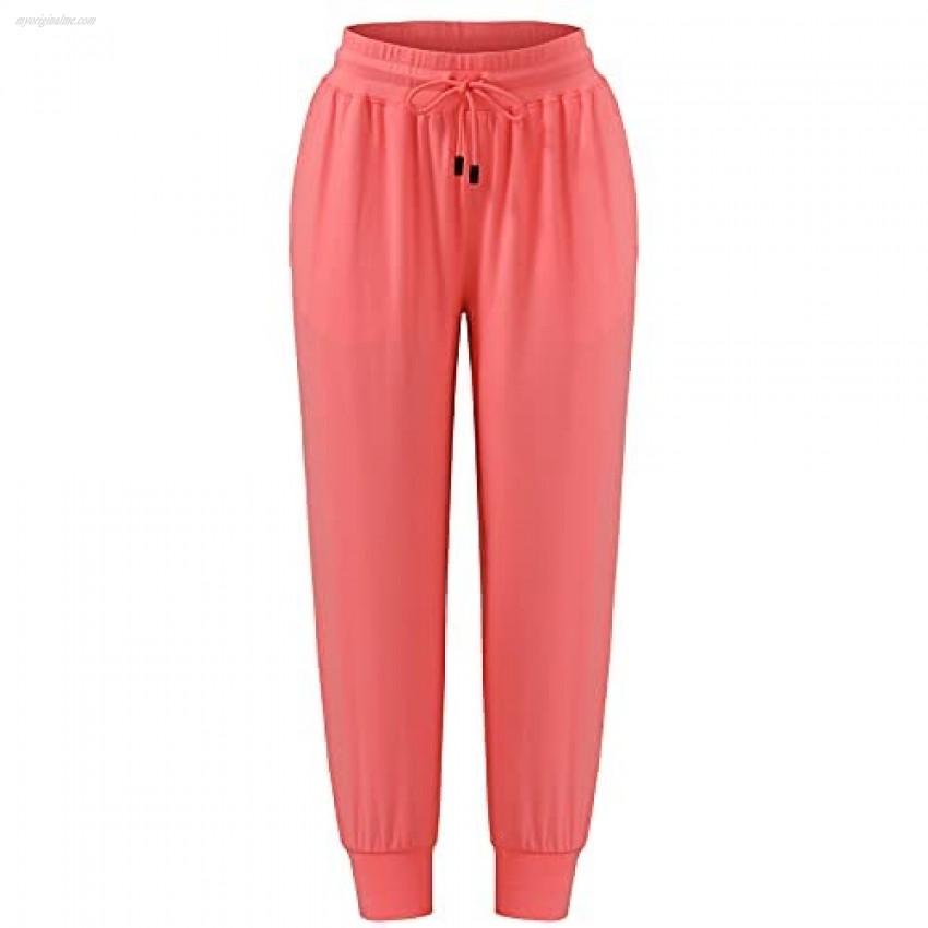 U/D Women's Fashion Loose Comfortable Drawstring Jogging Pants