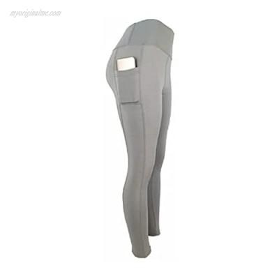 Women's High Waisted Tummy Control Yoga Pants Gray