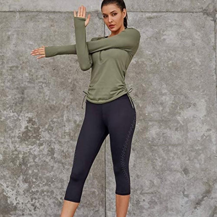 AS ROSE RICH Workout Leggings for Women - Yoga Pants - Silver Foil Polka Dot Design