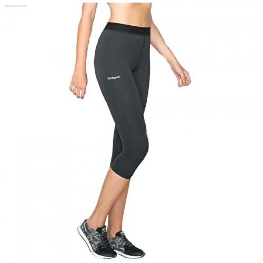 Desigual Womens' Sport Capri Tight Essential Black