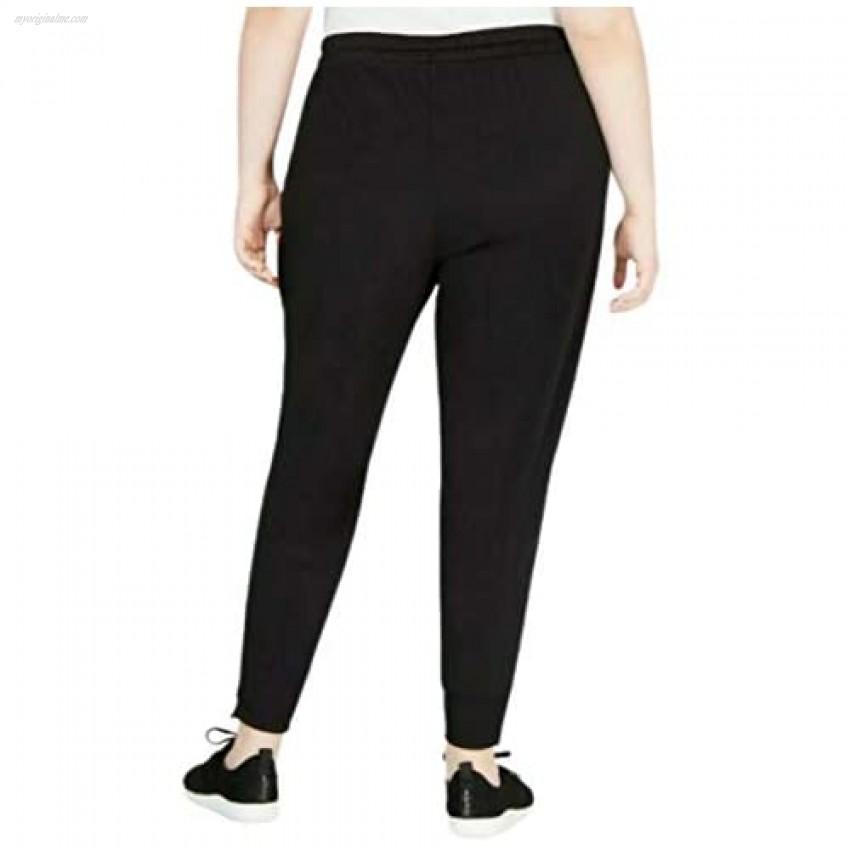 Ideology Plus Size Woven Zip-Ankle Joggers-1X-DEEP Black