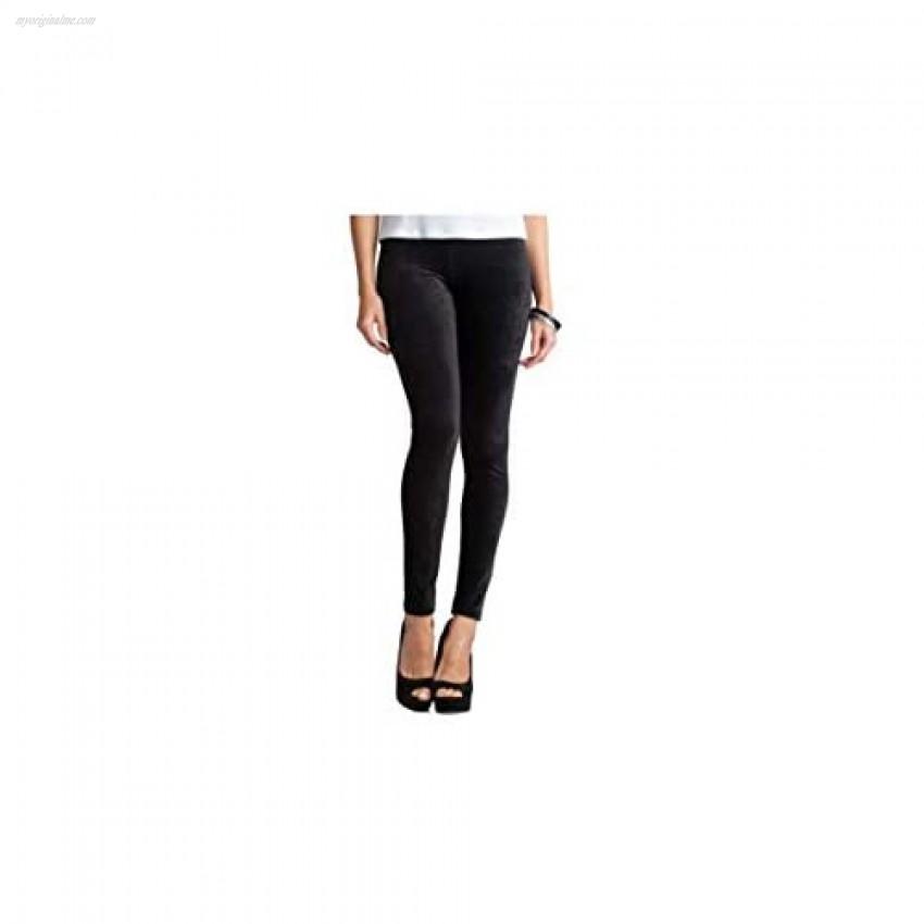 ilux VIVI - Landscaped Ribbed Velvet Legging (Black XLarge)
