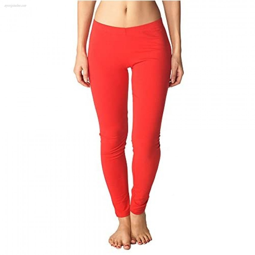 In Touch Womens Cotton Spandex Leggings: Buttery Soft Leggings for Women Non See Through