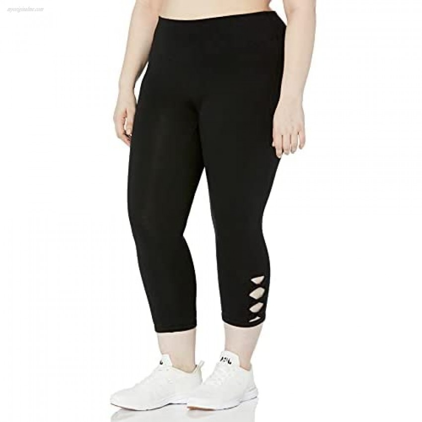 Marc New York Performance Women's Crop Legging with Twisted Side Details