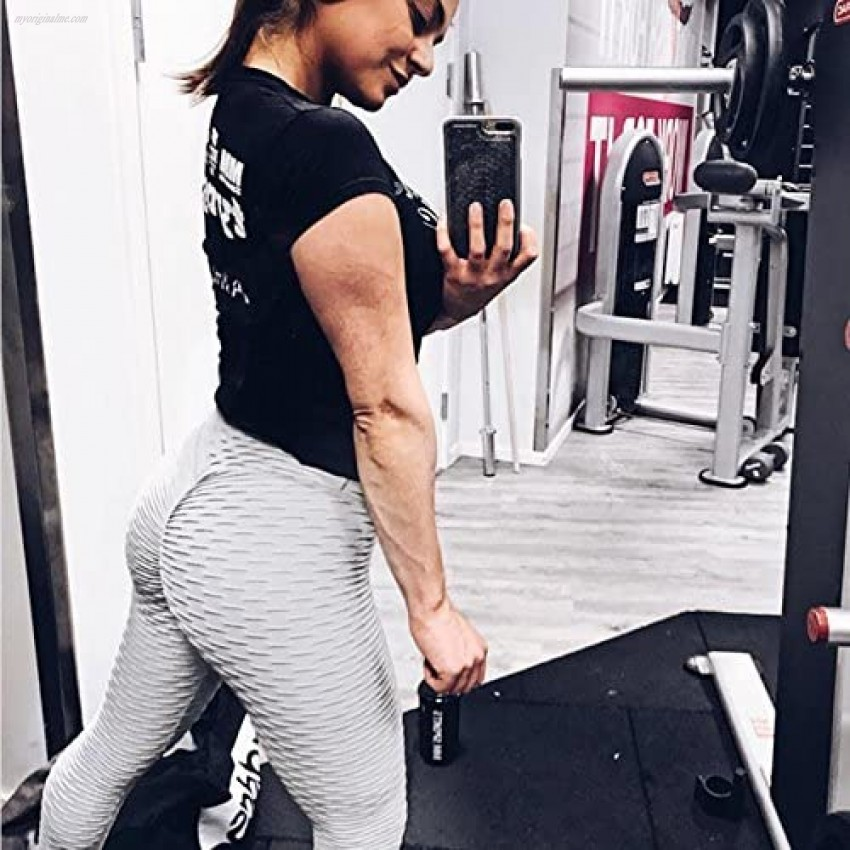 Women's High Waisted Yoga Pants Tummy Control Scrunched Booty Leggings Workout Running Butt Lift Tights