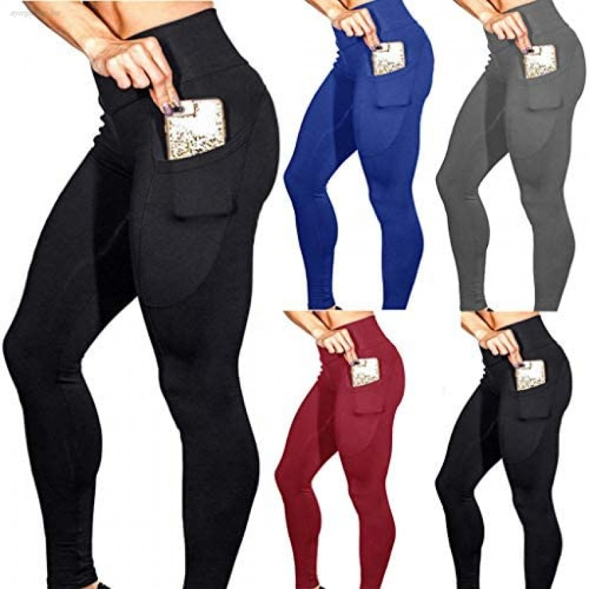 Yoga Pants Workout Gym Tights Active Leggings with Pockets by ProLevel NOLA