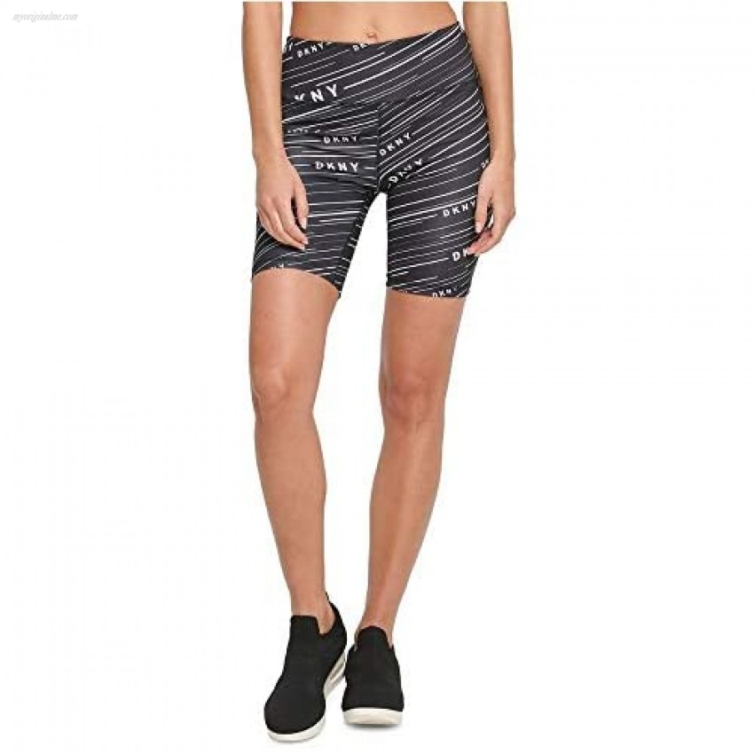 DKNY Sport Womens Meterorite-Print High-Waist Bike Shorts