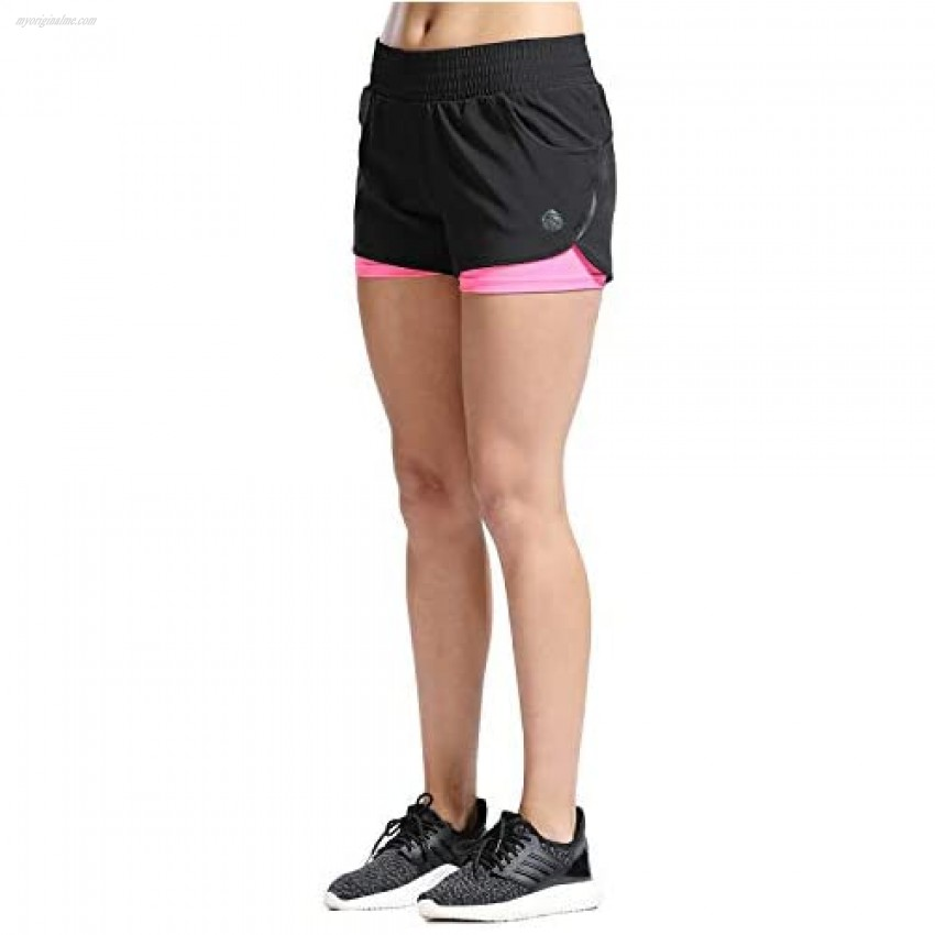 SILIK Women's Quick Dry Running Shorts Mesh Sports Workout Shorts Light Weight Athletic Shorts with Pocket